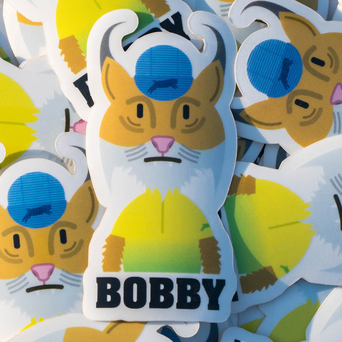 BOBBY PORTRAIT STICKER